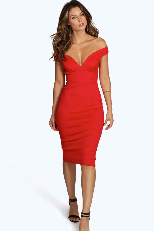 Sweetheart Off Shoulder Bodycon Dress