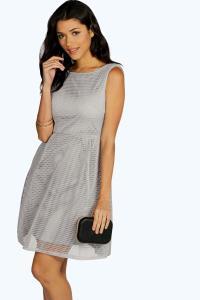 Boohoo Womens Boutique Sarah Oversized Mesh Prom Dress   eBay