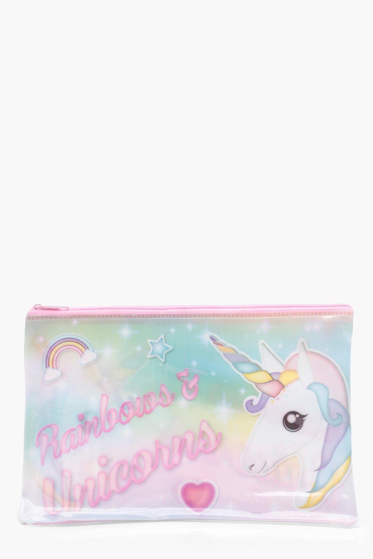 Girls Unicorn Pencil Case Boohoo