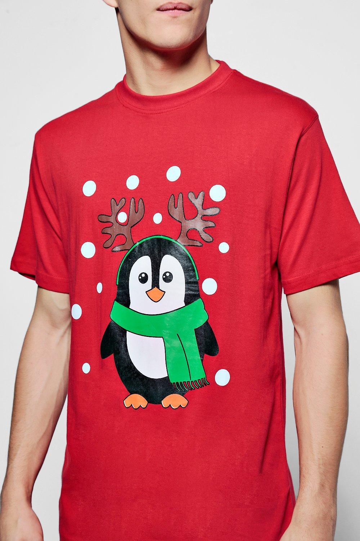 christmas penguin t shirt