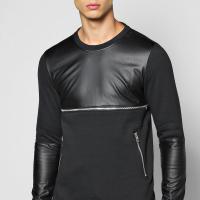 boohoo Sweater With Zip - black