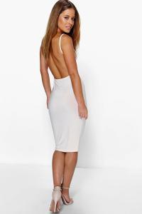 Boohoo Womens Petite Renee Backless Strappy Bodycon Dress ...