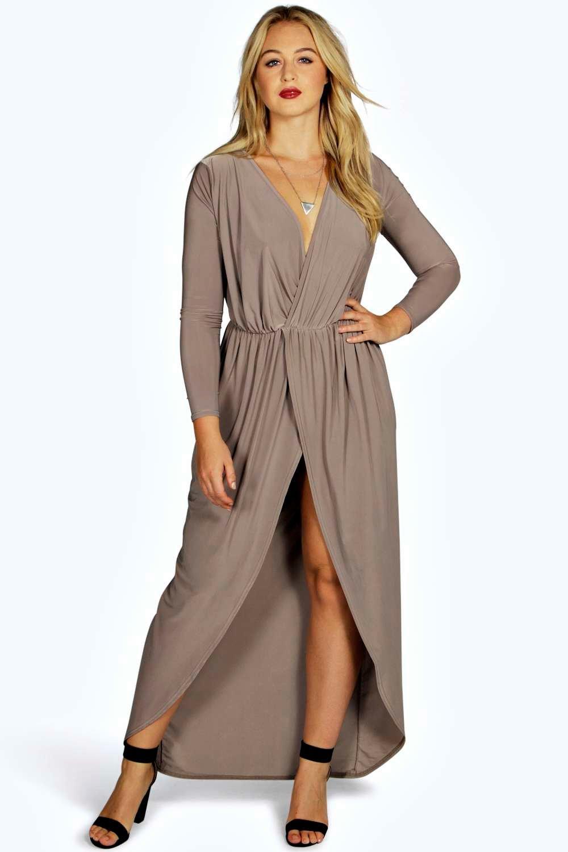 Plus Size Maxi Wrap Dresses