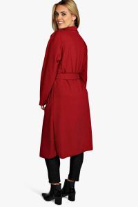 Boohoo Womens Orla Belted Shawl Collar Coat