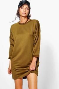 Boohoo Womens Tall Rainee Oversized Sweat Dress | eBay