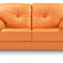 Orange Sofa Uk Low Seating Designs Dfs Ainsley 100 Real Leather 2 Seater Ebay
