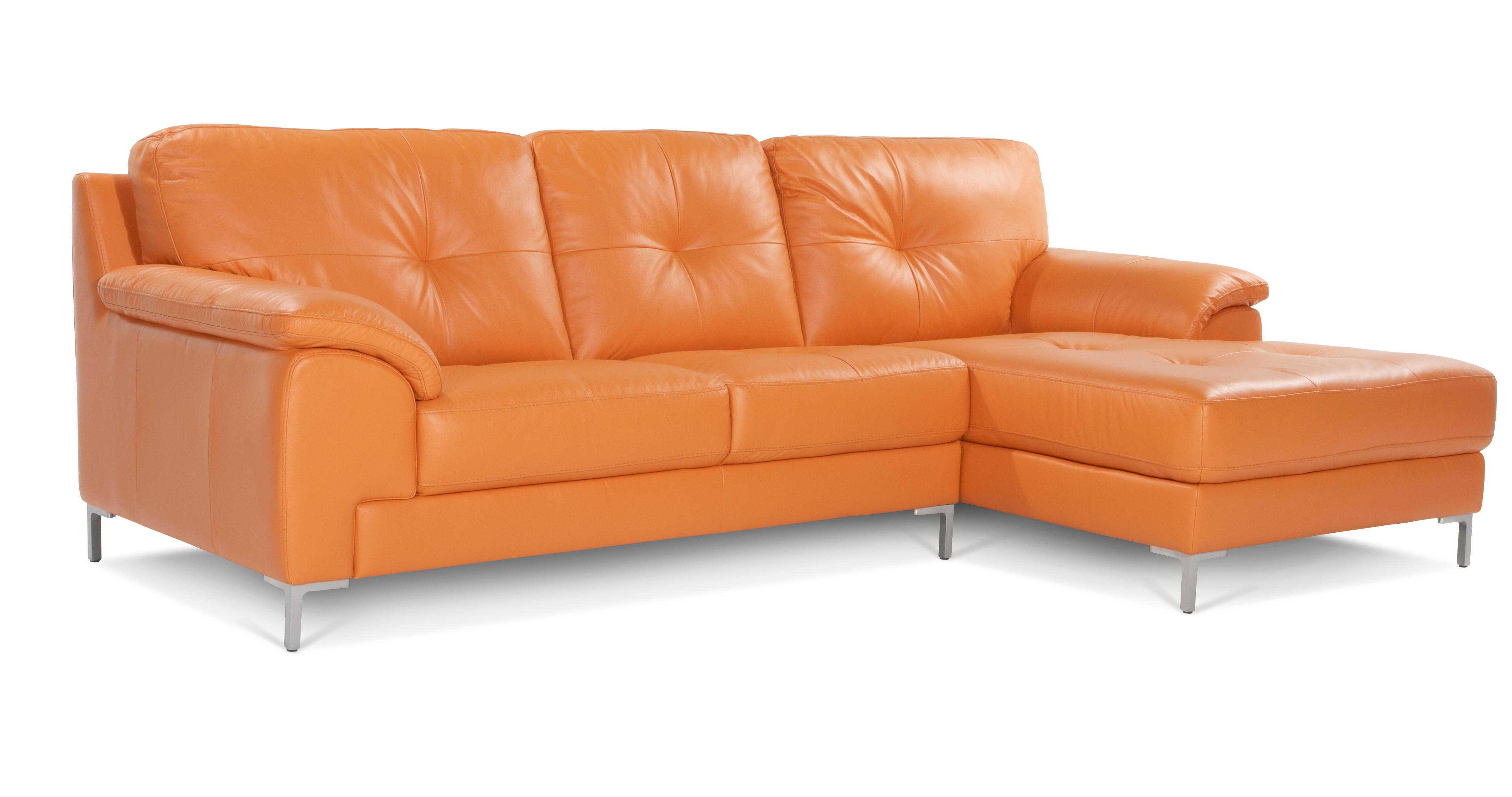 orange sofas ebay granite top sofa table dfs ainsley right hand facing 100 leather chaise