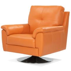 Bedroom Chair Dfs High Seat Beach Chairs With Canopy Ainsley 100 Real Leather Orange Swivel Ebay
