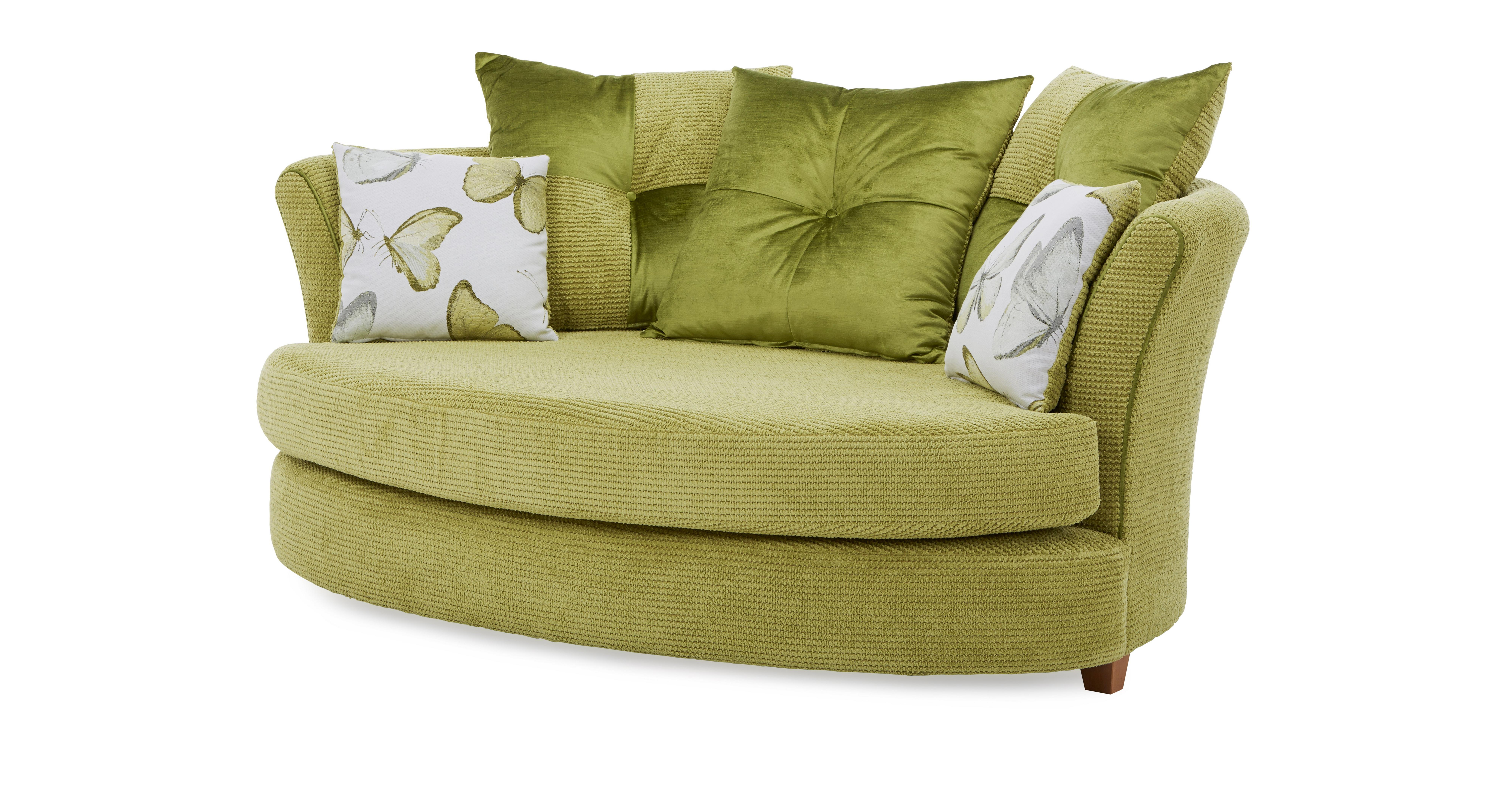 lime sofa chair larson grey dfs alegra green fabric cuddler and patterned