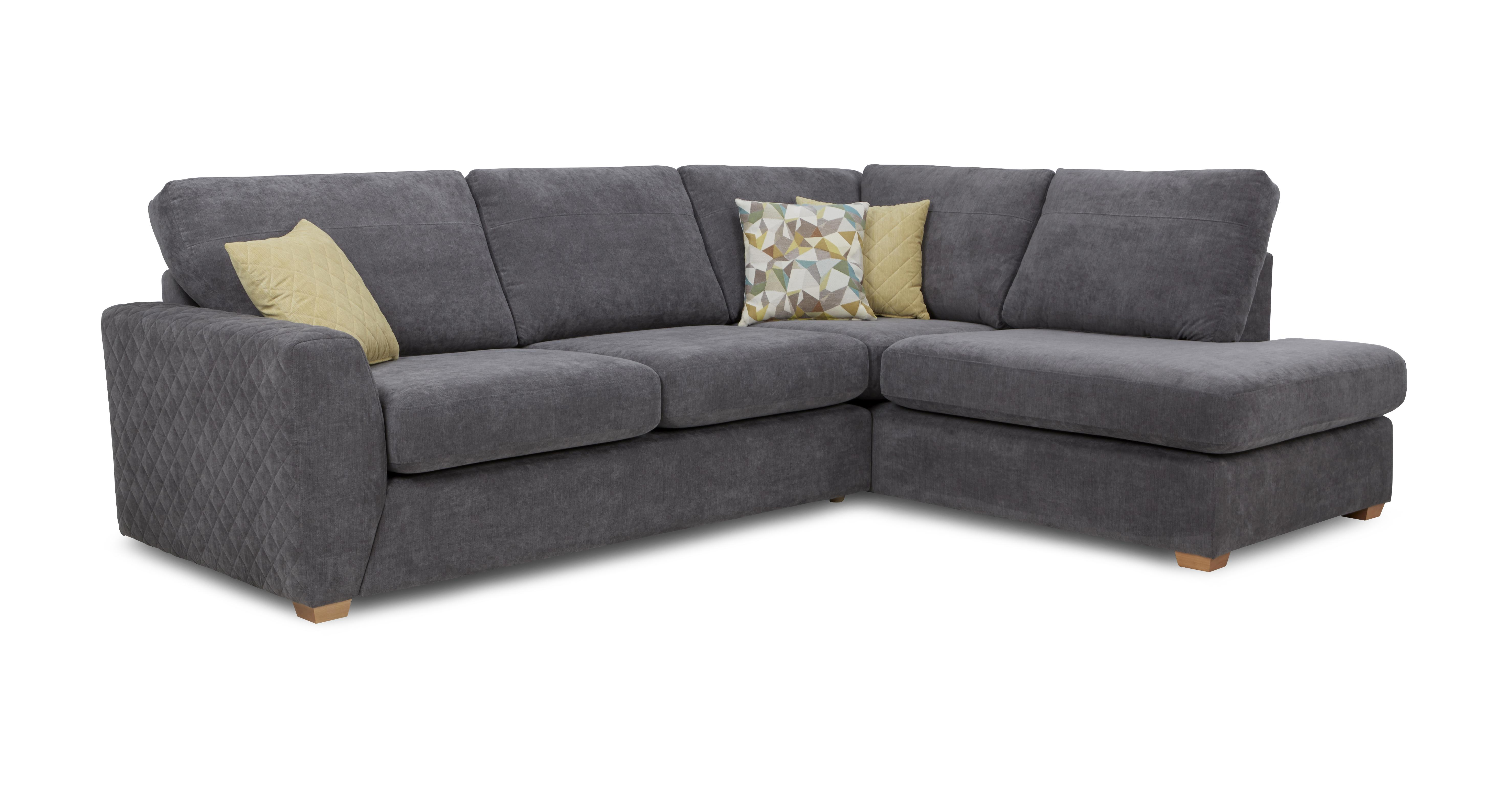 dfs corner sofa grey fabric black seat covers astaire graphite left hand facing