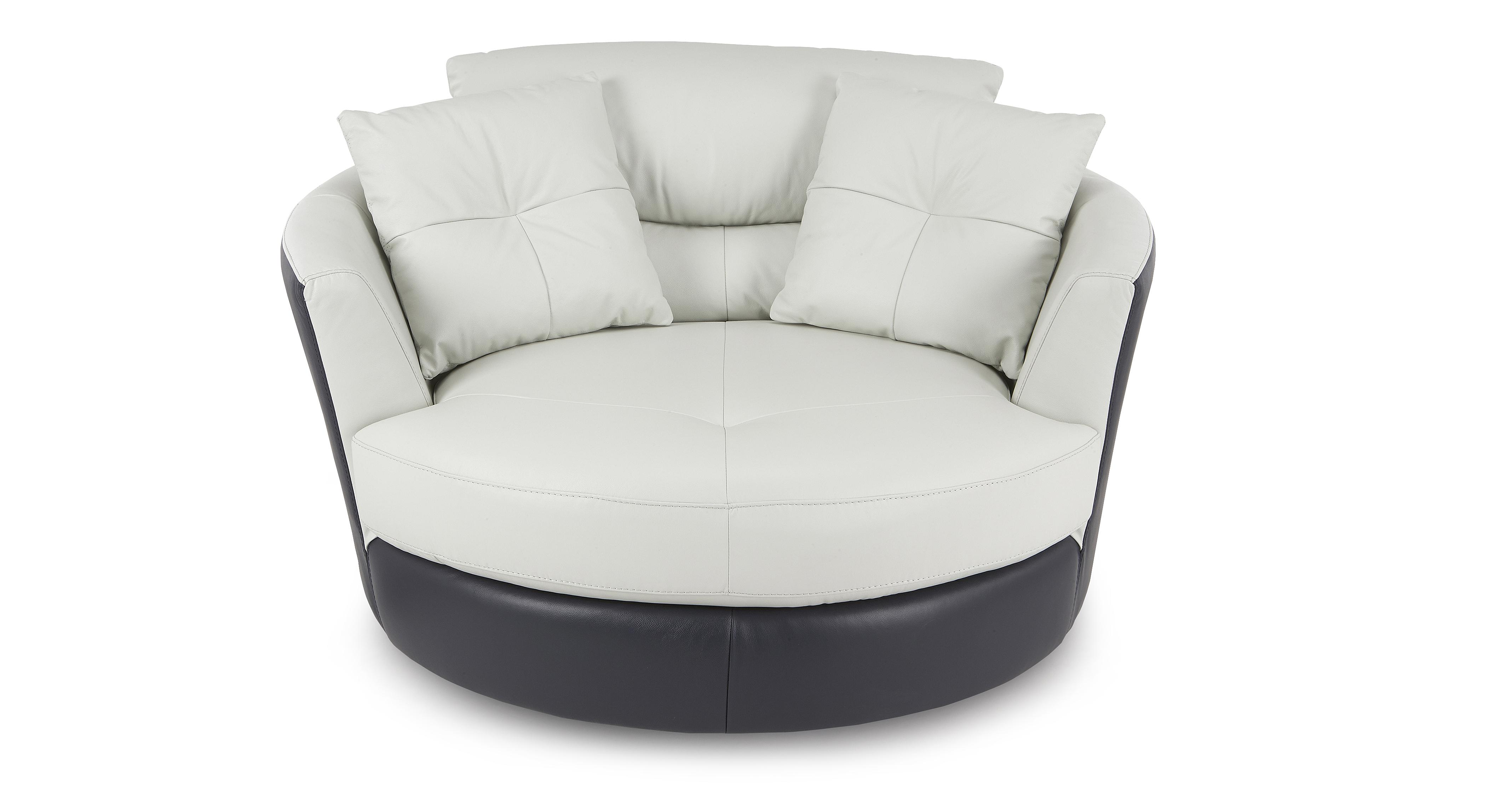 swivel chair and a half power lift reviews dfs azure 100 real aqua white leather set inc