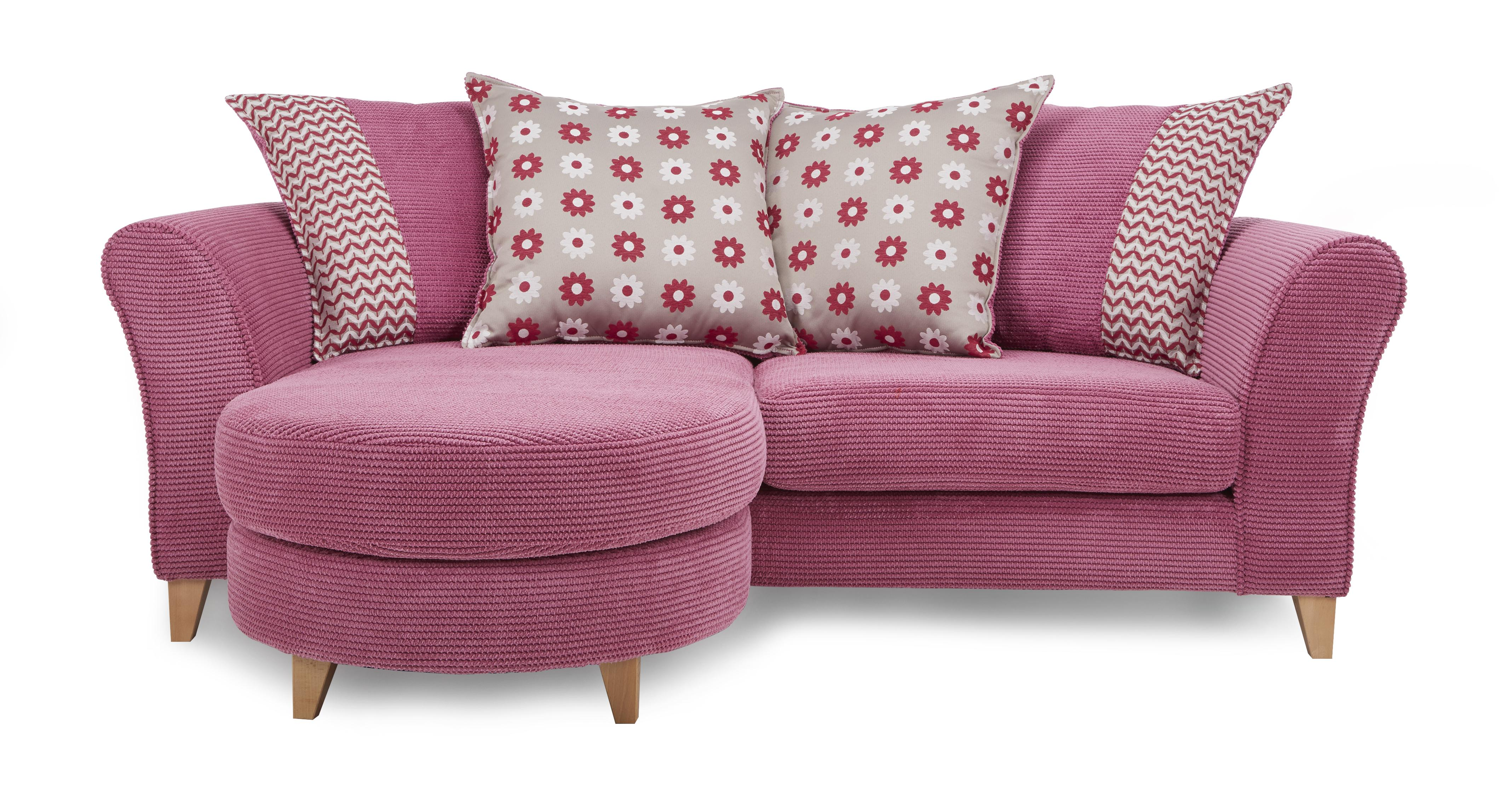 pink sofa furniture ashley chaise ottoman that turns into bed convert to