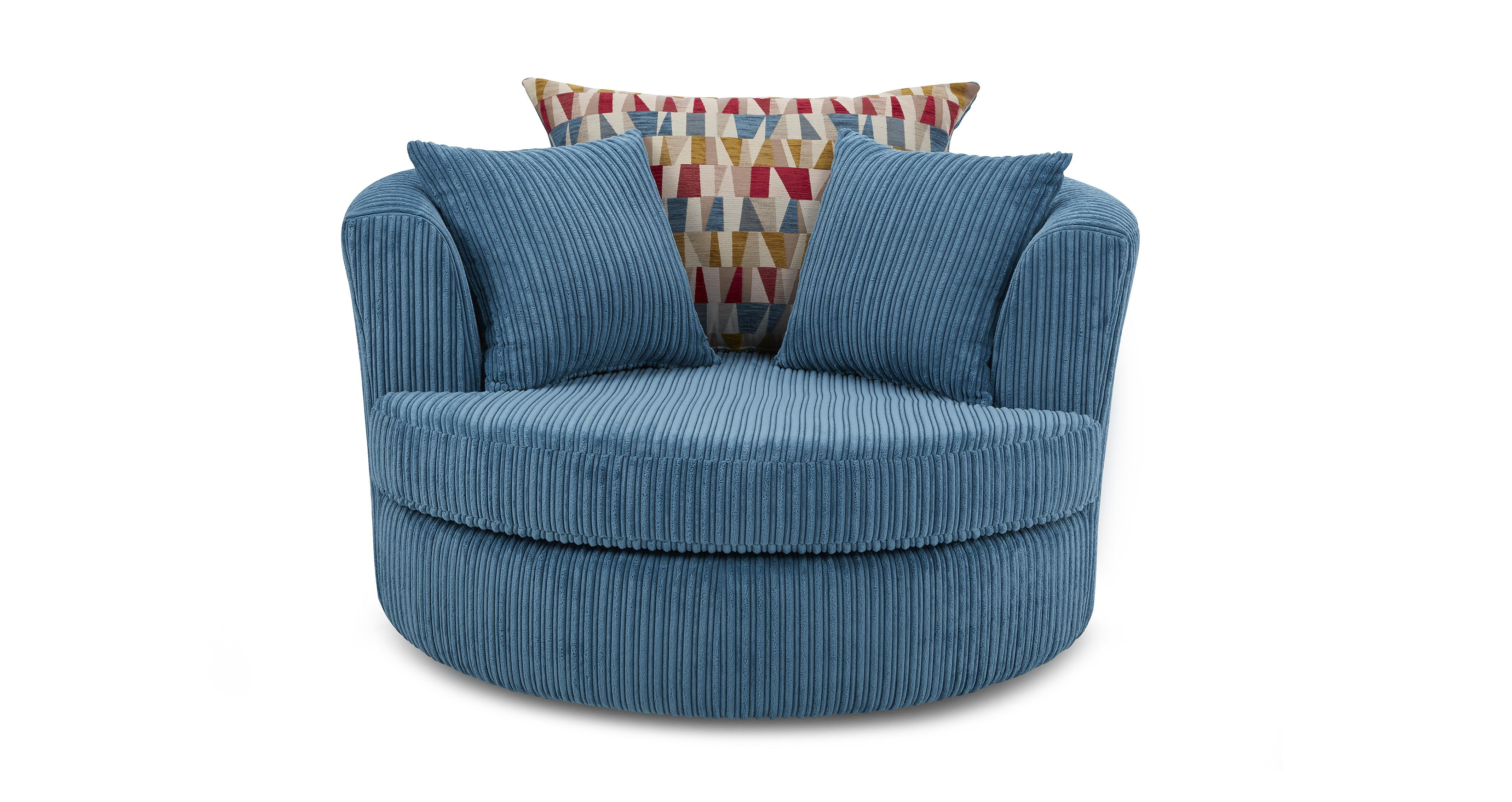 swivel chair and a half swing dfs boom set teal moon foot stool