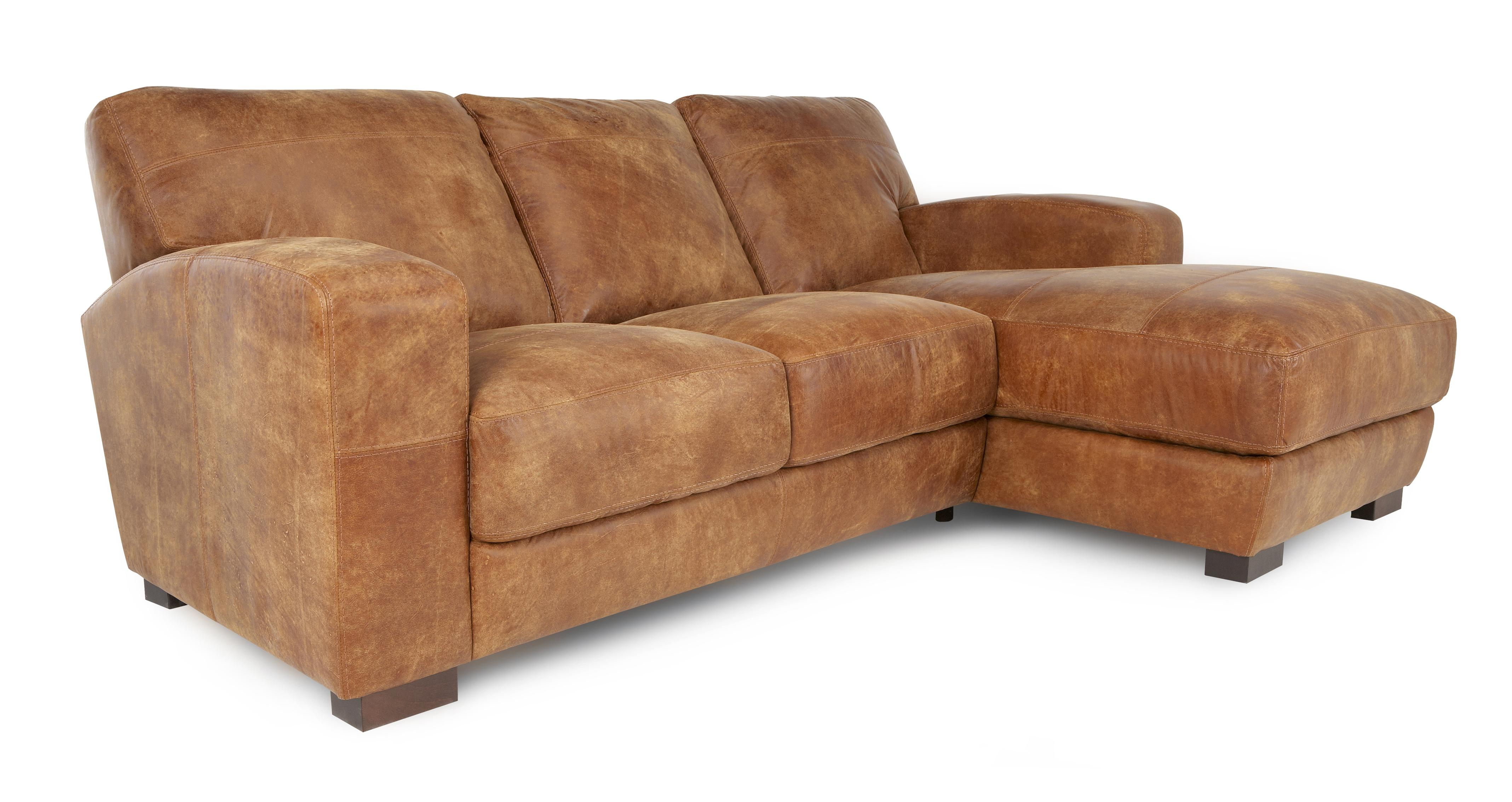 100 real leather corner sofa extra long table dfs caesar natural aniline right hand