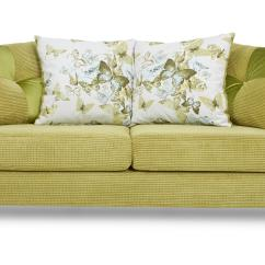 Lime Sofa Uk Chinese Dfs Corinne Green Fabric 3 Seater Pillow Back Ebay