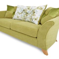 Lime Sofa Uk Cheap Sets Melbourne Dfs Corinne Green Fabric 3 Seater Pillow Back Ebay