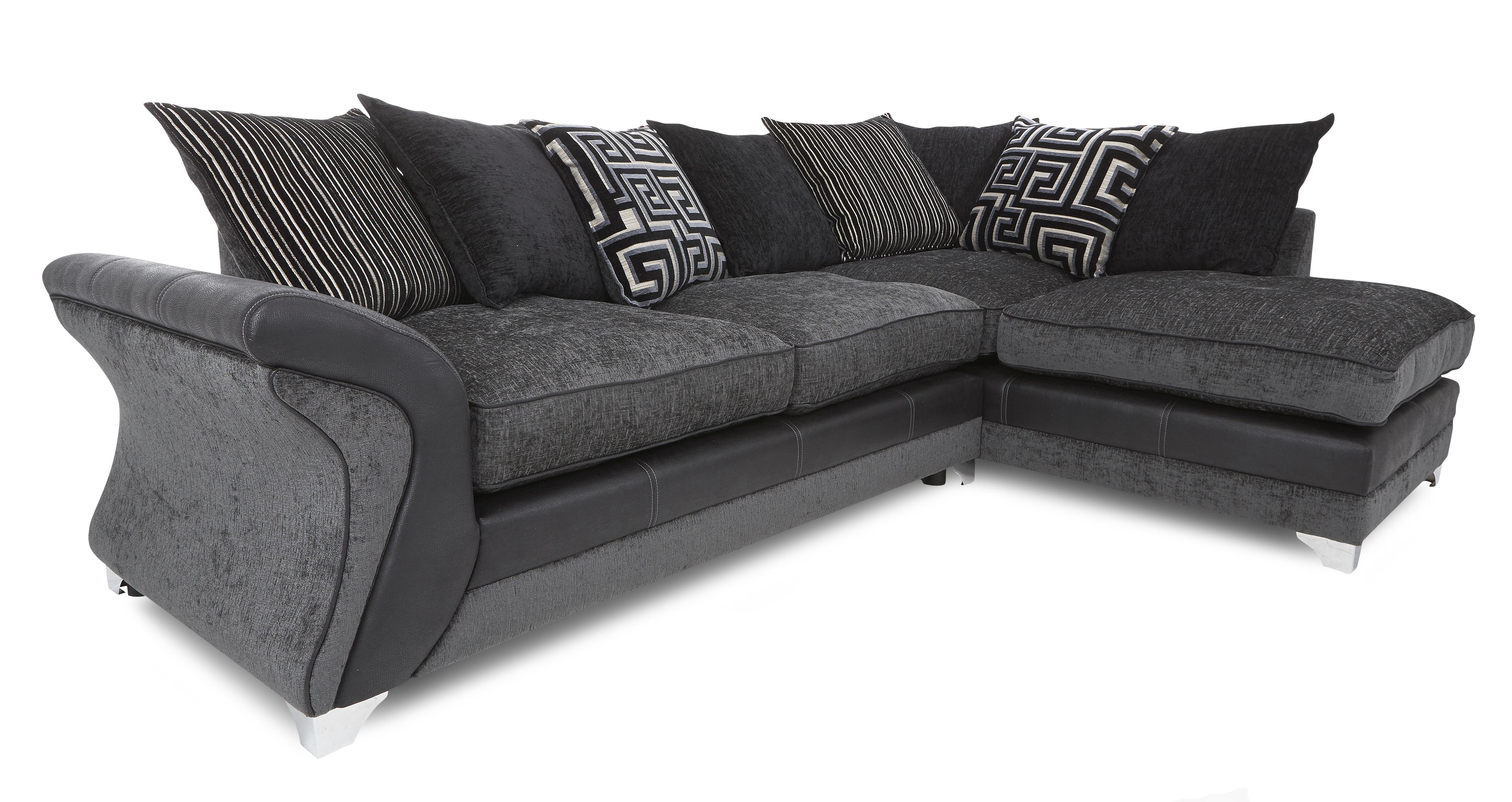 dfs corner sofa and swivel chair one seater dare charcoal fabric set inc chaise