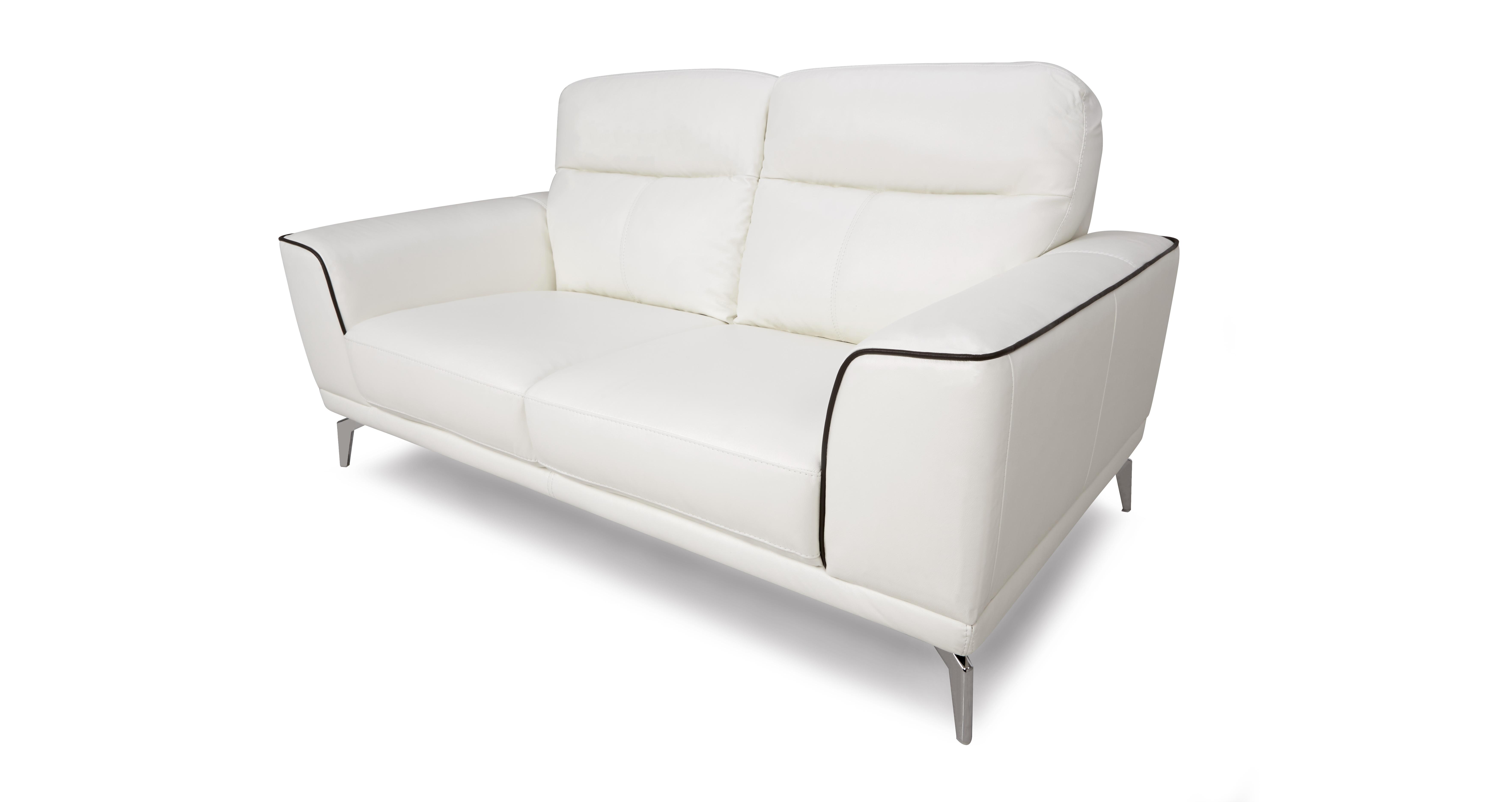 2 seater leather sofas at dfs 3 piece microfiber sectional sofa denver snow white ebay