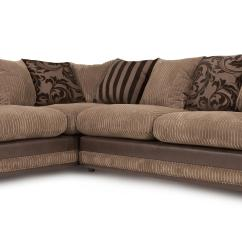 Brown Fabric Corner Sofa Dfs Natuzzi Leather Sectional Canada Destiny Bed Left Hand Facing