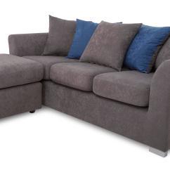 Dfs Corner Sofa Grey Fabric Custom Sofas Los Angeles Studio Left Or Right Hand Facing Ebay