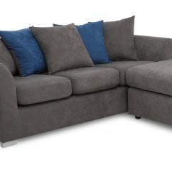 Dfs Corner Sofa Grey Fabric Kirkland Studio Left Or Right Hand