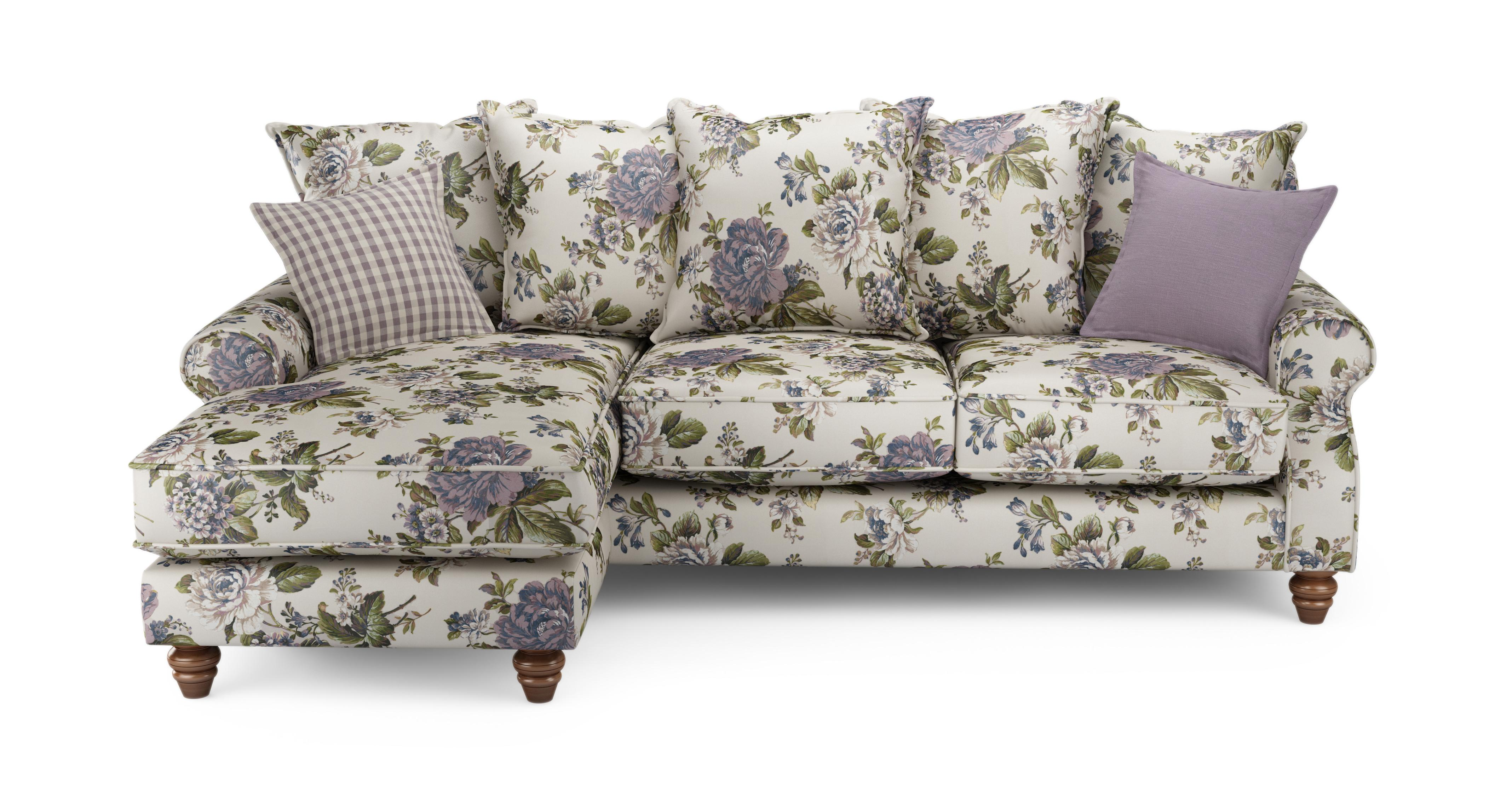 patterned sofas uk overstock sofa ellie floral left hand facing 4 seater chaise end