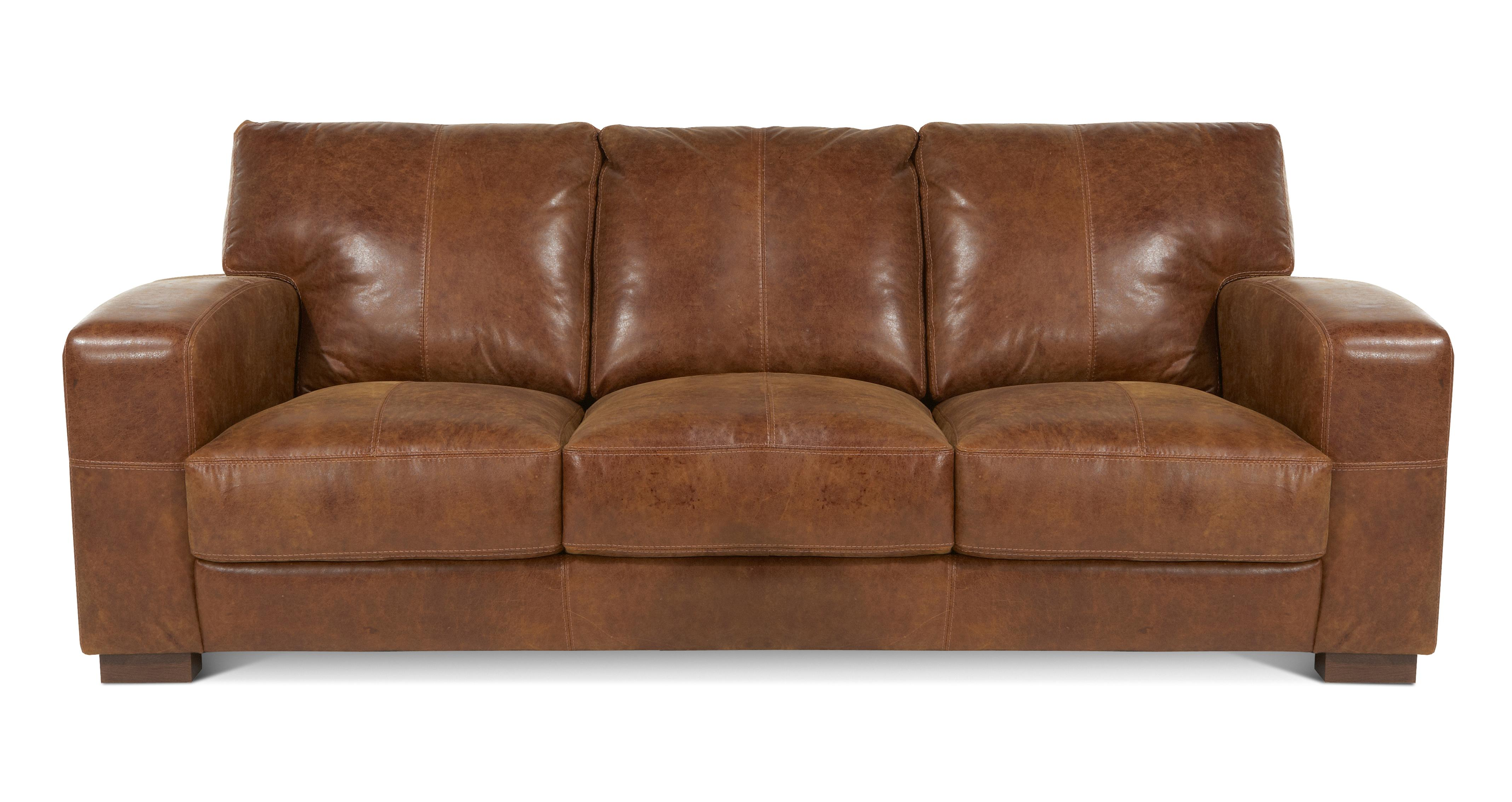 leather sofa brown dfs www ebay com sectional emperor couch italian ranch natural