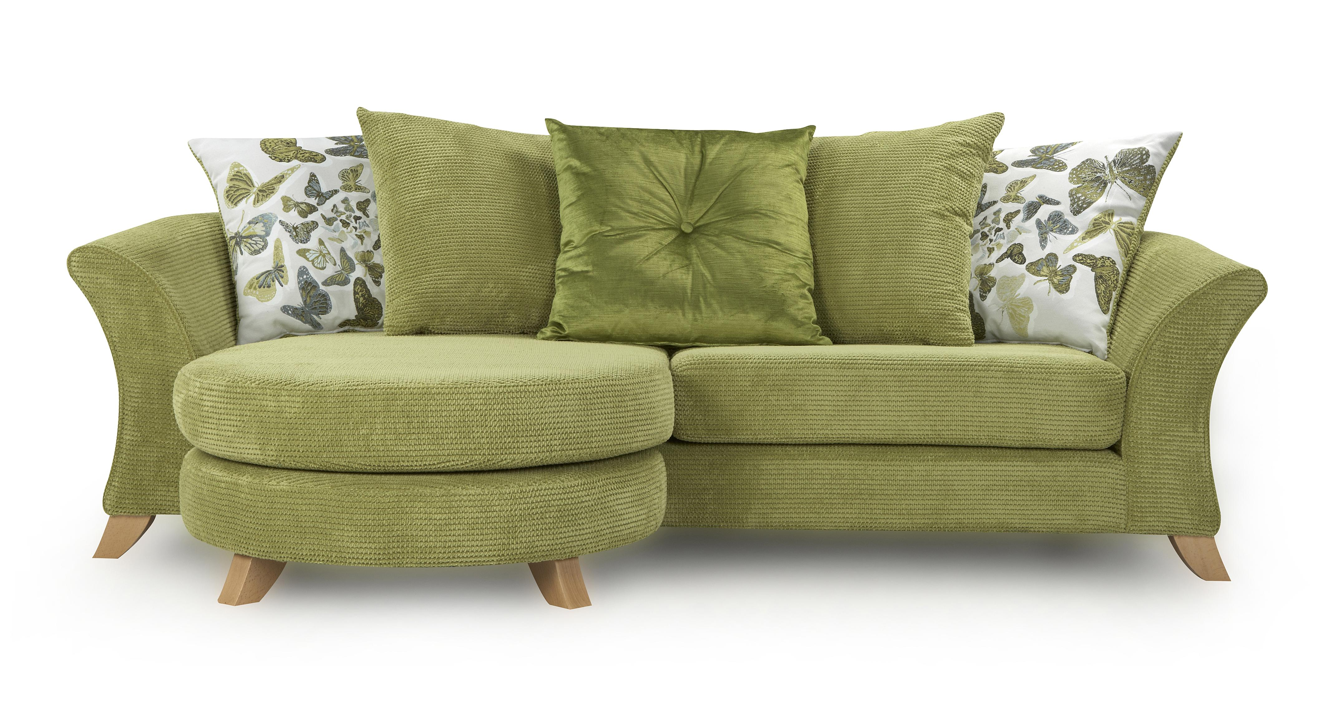 organic sofa uk removing pen marks from leather dfs escape set 4 seater lime green lounger accent
