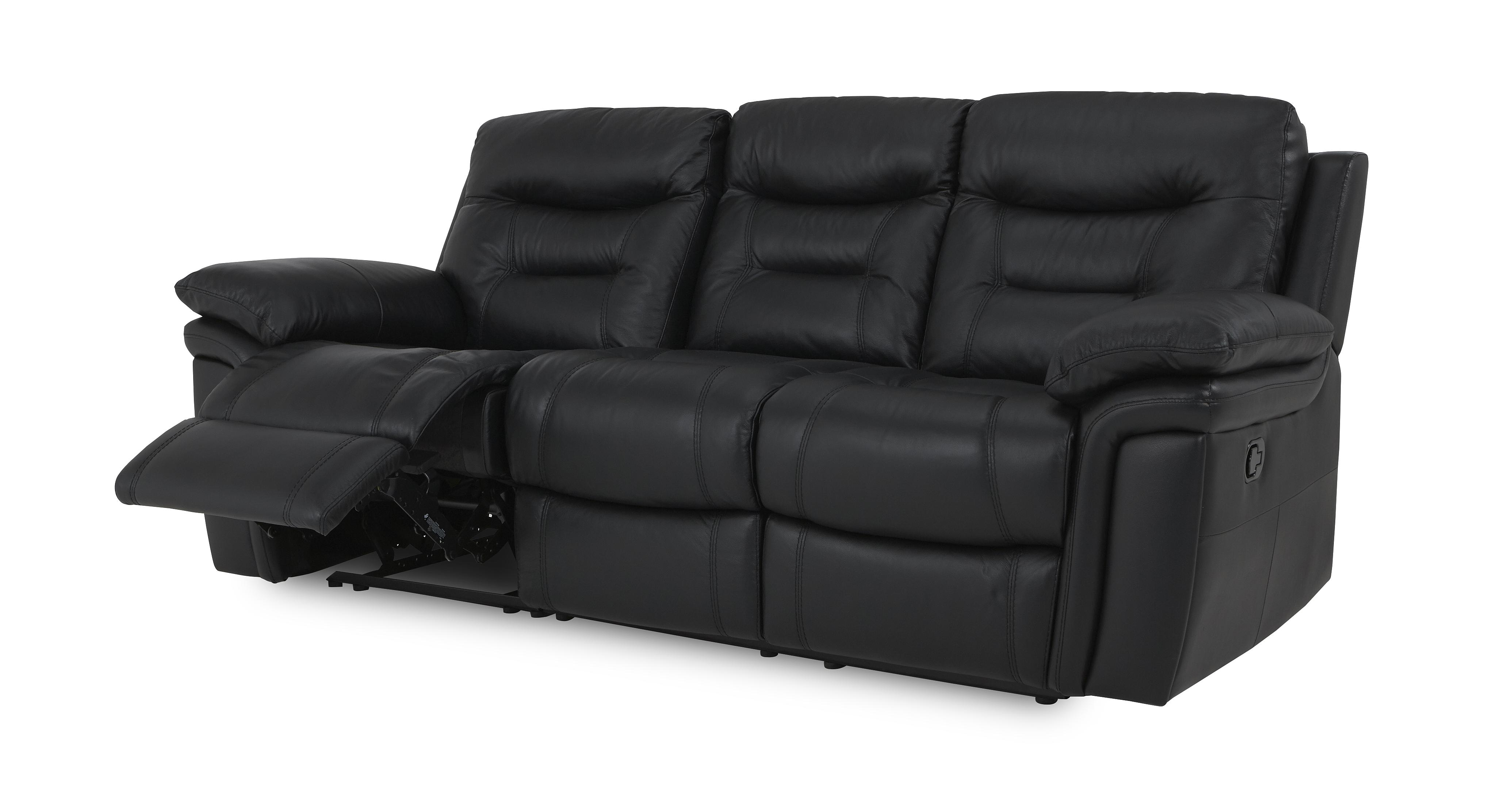 dfs recliner sofa bed ashley furniture black leather reclining evolution 3 seater manual