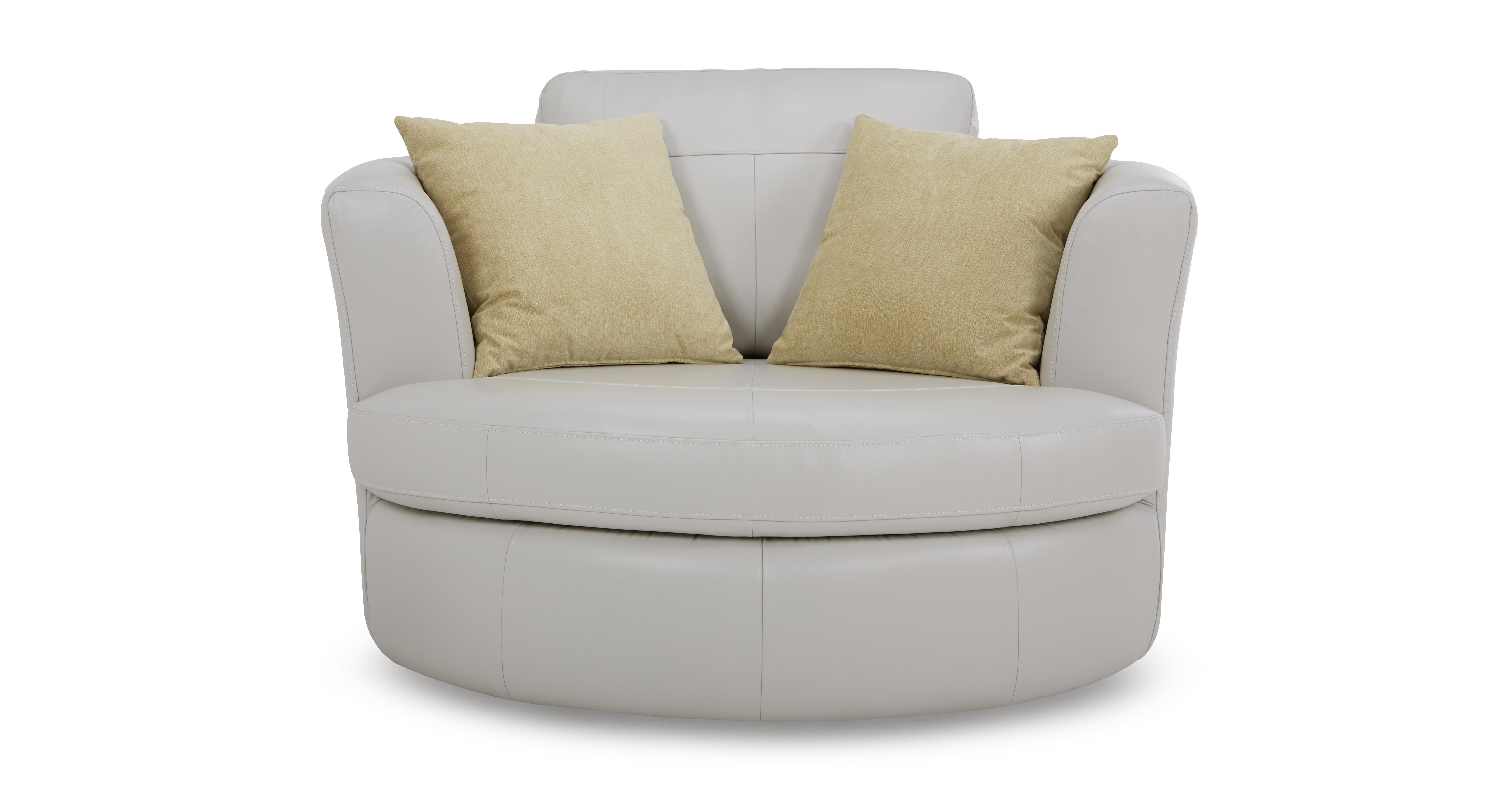 Freya Leather Large Swivel Chair Beau  DFS