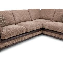 Brown Fabric Corner Sofa Dfs Steve Silver Table Genesis Mocha Left Hand Facing Formal Back