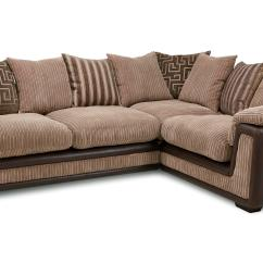 Brown Fabric Corner Sofa Dfs Krypton Genisis Mocha Left Hand 2 Seater Pillow