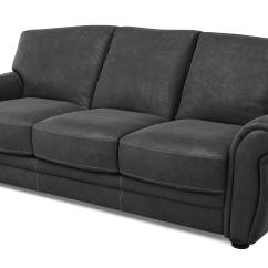 Grey Leather Chesterfield Sofa Dfs Reclining Slipcovers Giovanna 3 Seater And Footstool Ebay