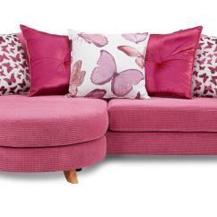 Pink Sofa Dating Uk Sectional Sofas With Recliners Dfs Gloss Fabric Foam 4 Seater Pillow Back Lounger Ebay