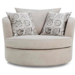 Swivel Chair And A Half Hag Capisco Puls Review Dfs Haze Silver Fabric Large Moon