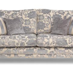 4 Seater Sofas Leather Fabric Big Brown Sofa Dfs Hogarth Silver Floral Ebay