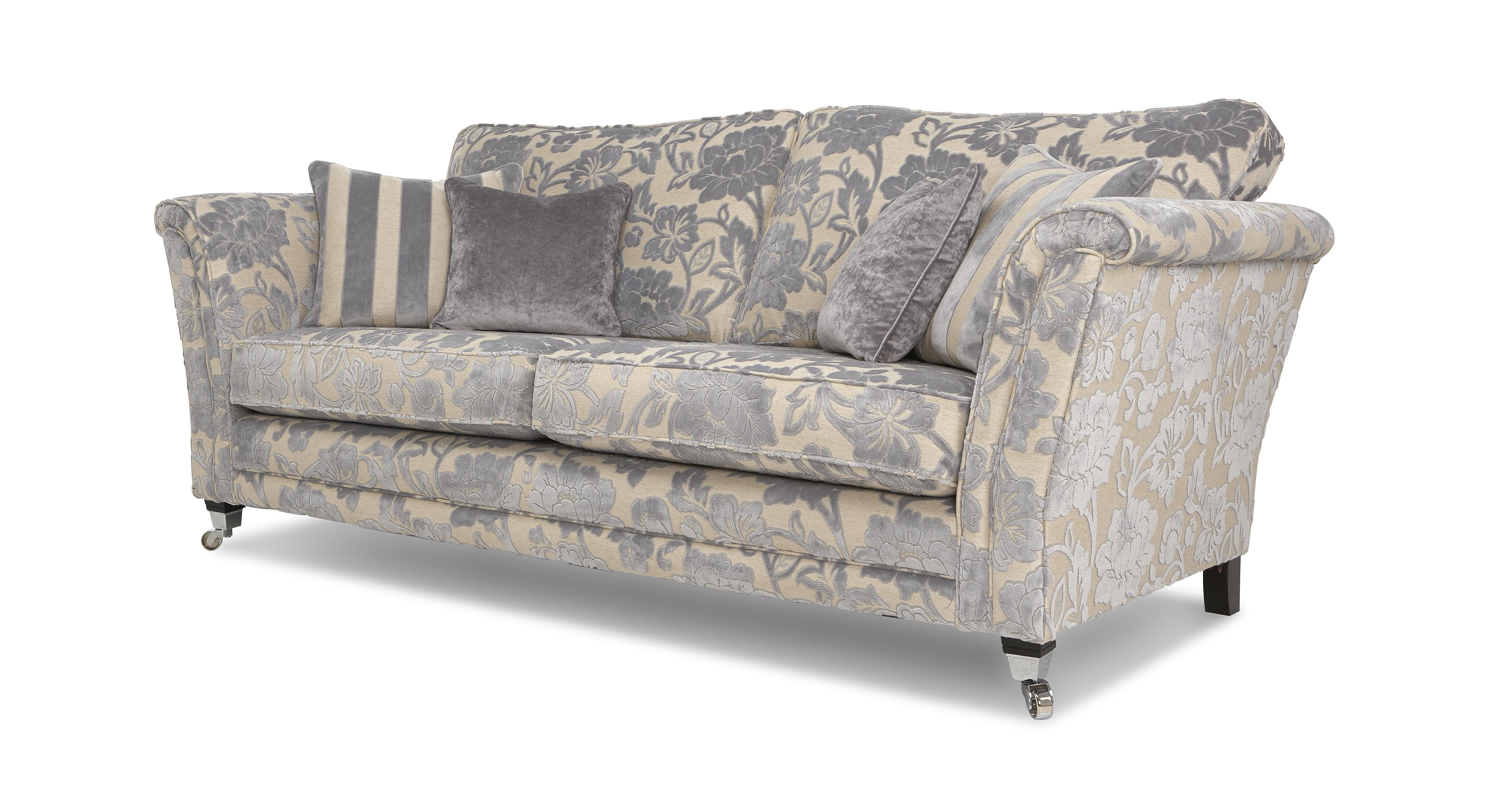 floral sectional sofa costco recliners printed fabric sofas amazing on tufted
