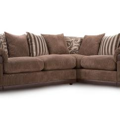 Corner Sofa Dfs Martinez Dallas Cowboys Pub Infinity Mocha Fabric Left Hand Facing Pillow Back