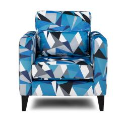 Blue Pattern Accent Chair Covers Wedding Mn Dfs Lustre Fabric