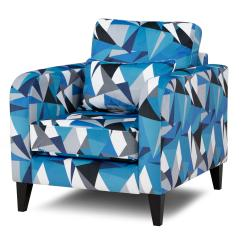 Blue Pattern Accent Chair Wildon Home Arm Dfs Lustre Fabric
