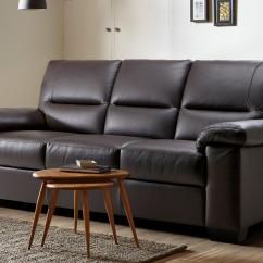 Leather Sofa Brown Dfs 2 Piece Black Set Offers Spain Mellow 3 Seater Hazen