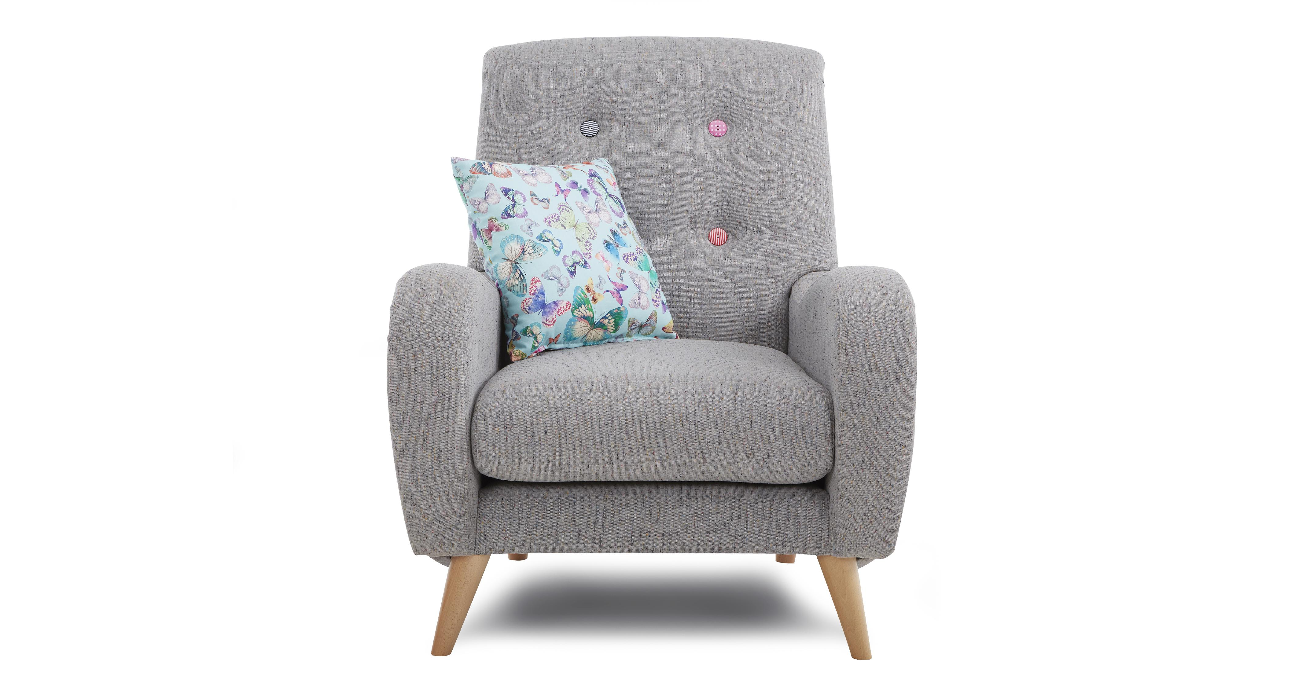 grey round sofa chair z materacem do spania mira fabric set inc 4 seater accent