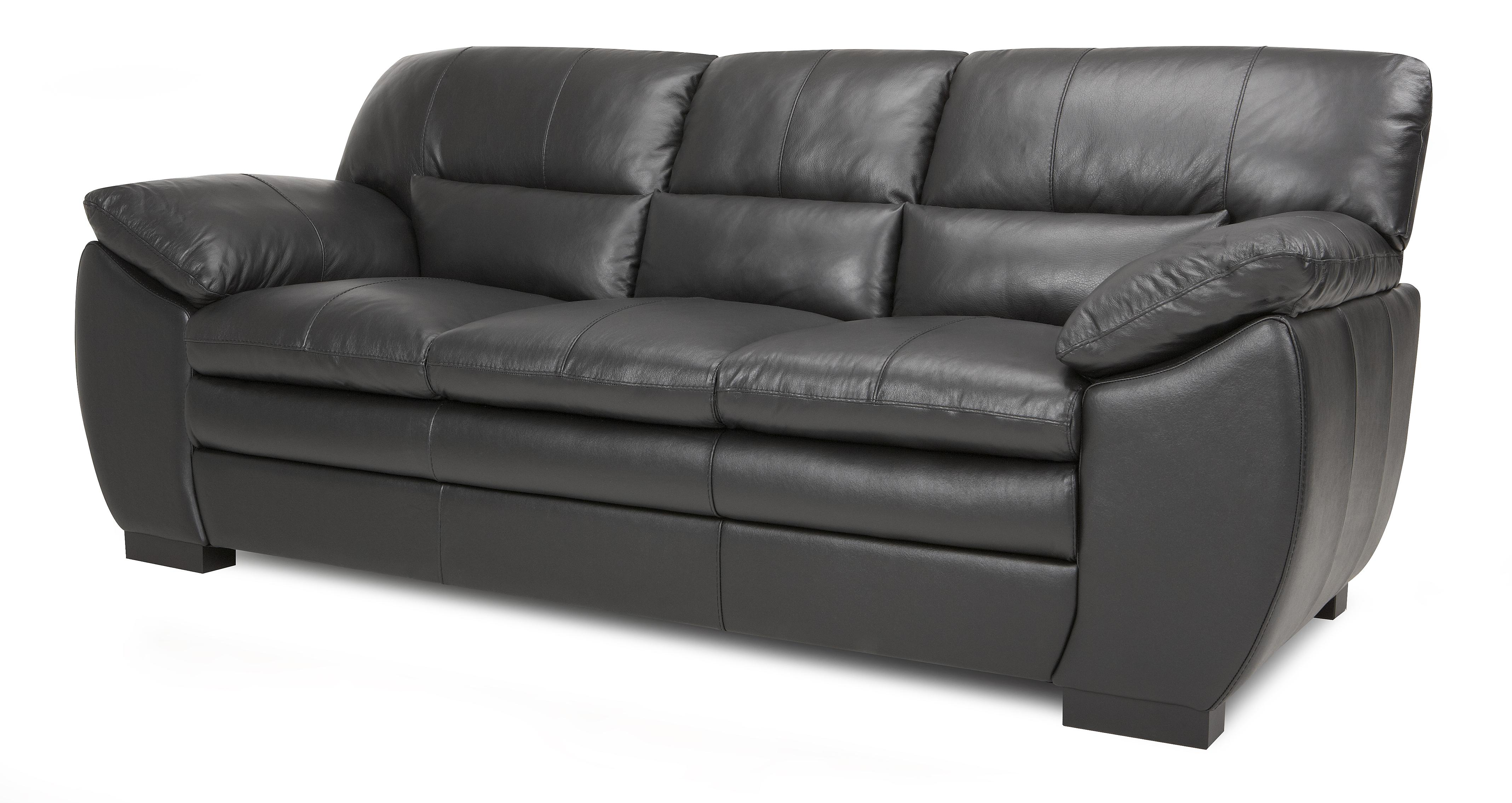 new sofas dfs leather chesterfield online force black 3 seater sofa