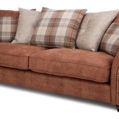 Brown Fabric Corner Sofa Dfs Gray Velvet Modern 4 Seater Sofas For Sale Oakland