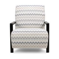Blue Pattern Accent Chair Mid Century Modern Rocking Canada Dfs Presence Sky Fabric Ebay