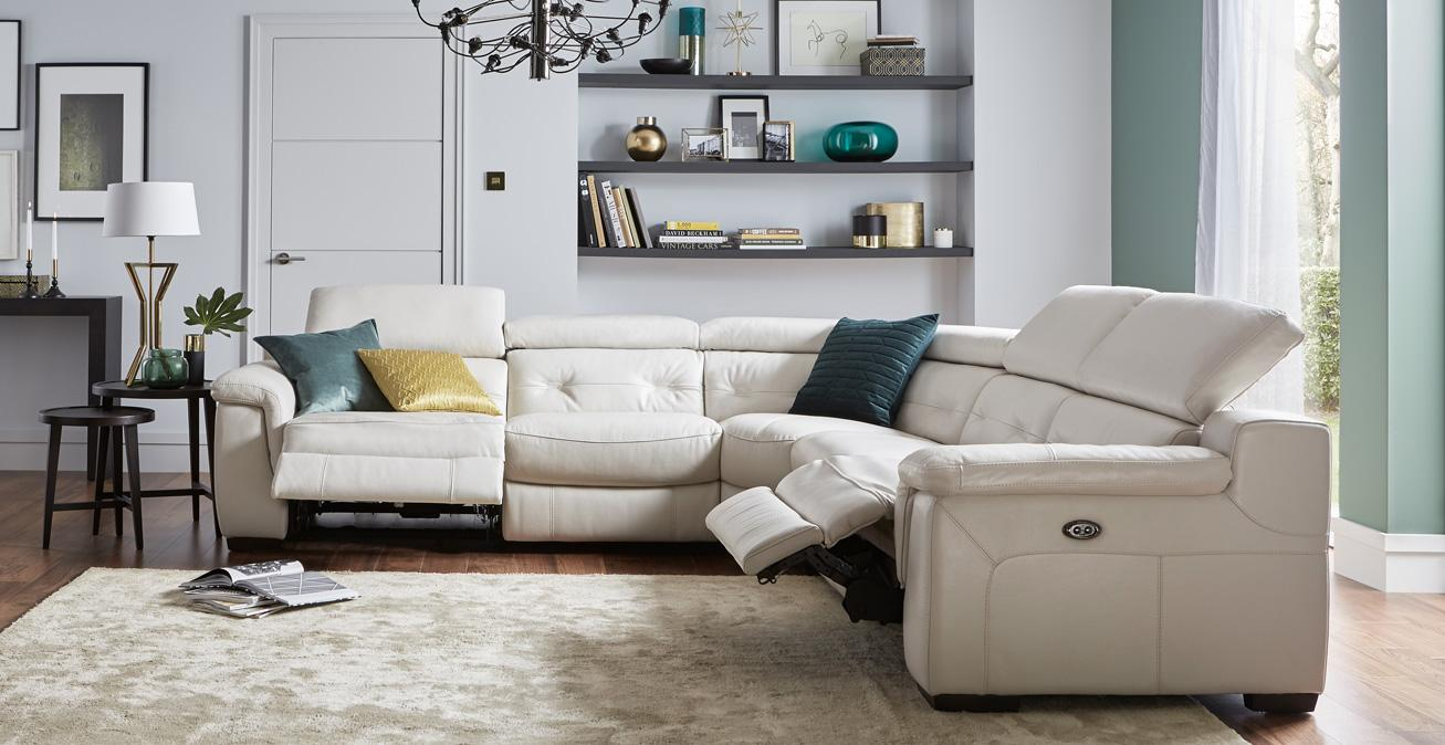 recliner sofas in fabric leather