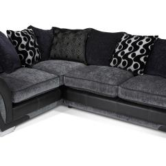 Dfs Corner Sofa And Swivel Chair Black Red Leather Shannon Charcoal Fabric 2