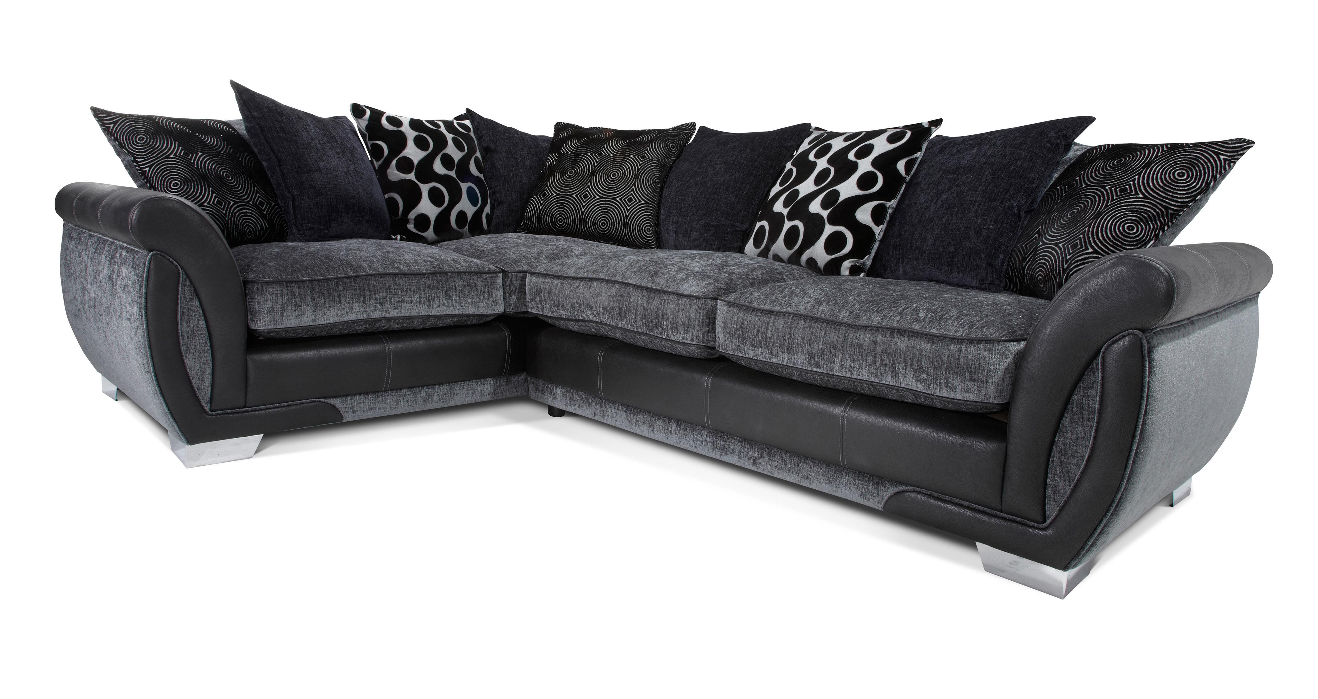 corner sofa dfs martinez 5 in 1 bed lowest price shannon charcoal fabric right hand facing