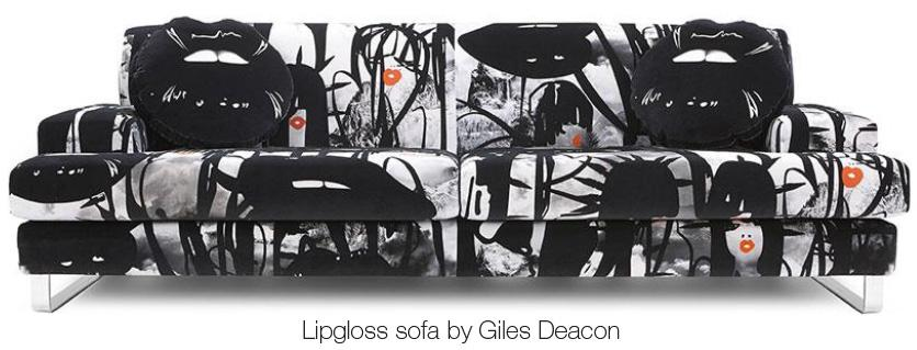 Lipgloss sofa by Giles Deacon
