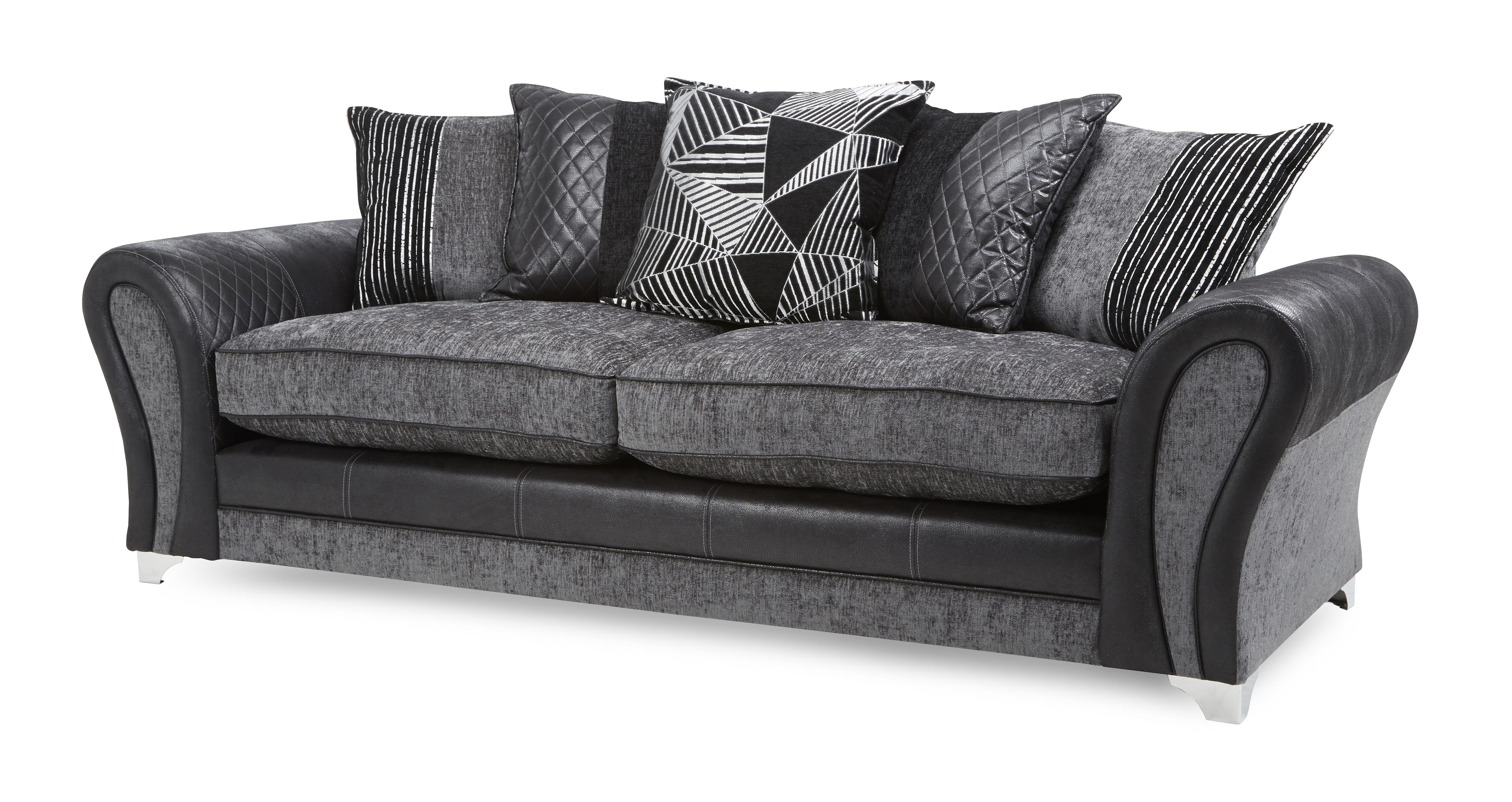 ex display sofa bed uk 2 pc raf sectional dfs starlet fabric 4 seater pillow back and formal